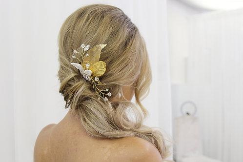 Barbara Gold Leaf Hair Comb