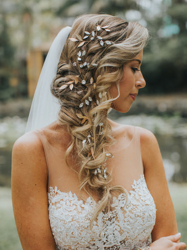 Boho braided hairstyle