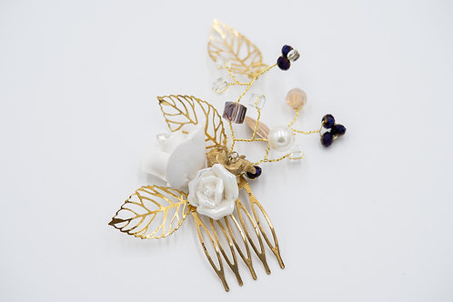 Arielle Purple and Gold Hair Comb