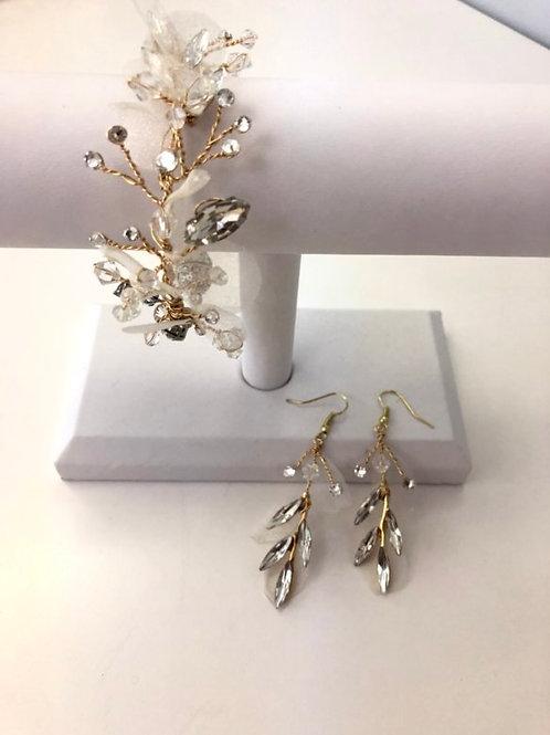 Gold Silk Organza Bracelet