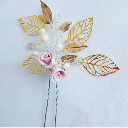 Claire Petite Rose Hair Pin