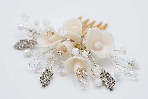 Alyssa Flower Sparkle Bridal Hair Comb