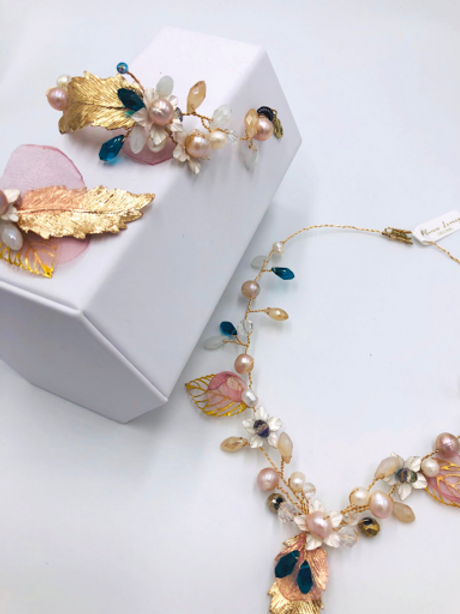 Gold Peacock Garden Jewelry set