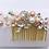 Thumbnail: Alessandra Blushing Pearl and Rhinestone hair comb