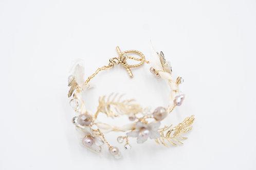 Gold Dusted Lavender Bracelet