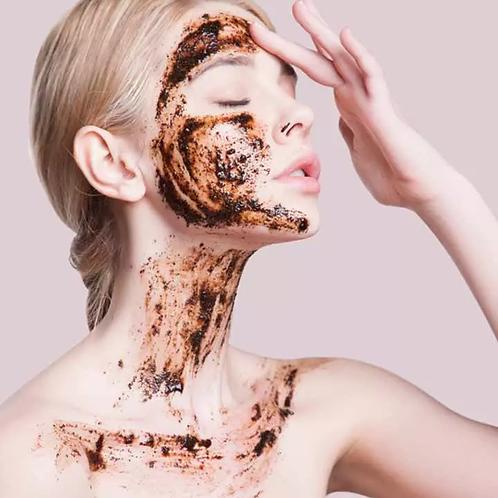 Orange + Coconut Coffee Face Scrub