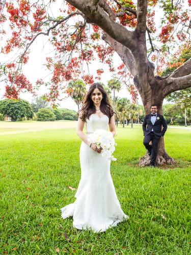 A beautiful multicultural wedding in Miami.