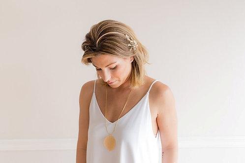 Gold Aspen Leaf Necklace