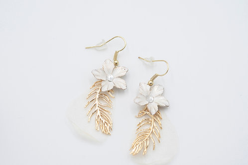 Gold Dusted Lavender Earrings