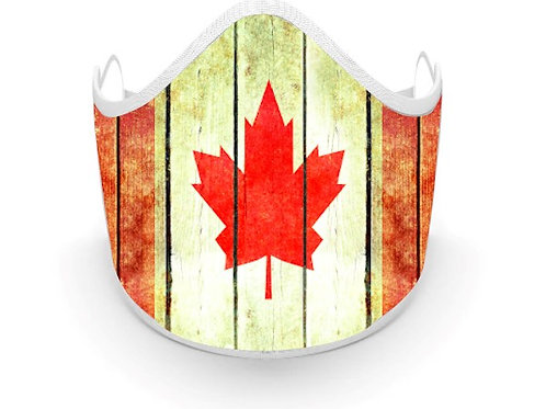 Fabric printed Canadian mask, Made in Canada, Great for Canada day