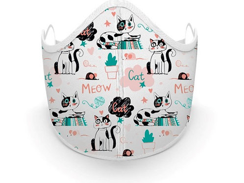 Fabric printed Cat Mask, Made in Canada