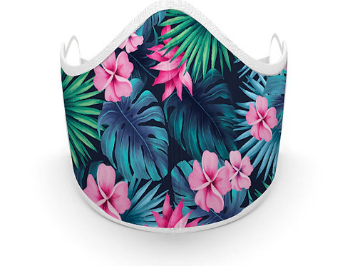 Fabric printed tropical Mask, Made in Canada