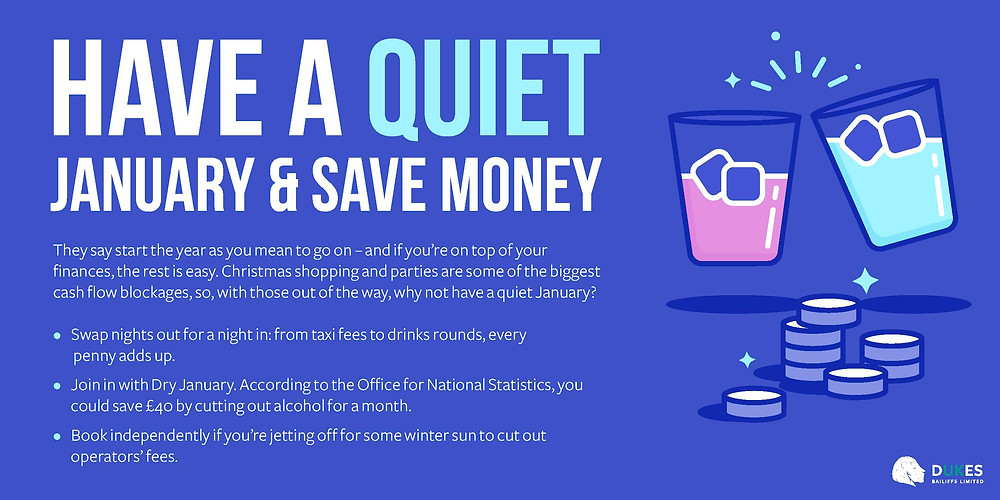Debt Management. Have a quite January and save money