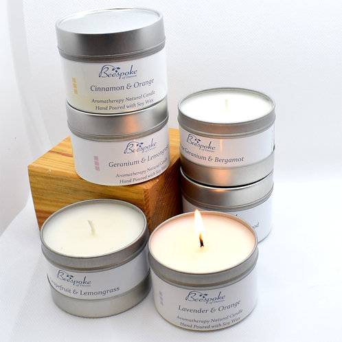 Aromatherapy Candles by Beespoke with pure Essential Oils and Soy Wax,