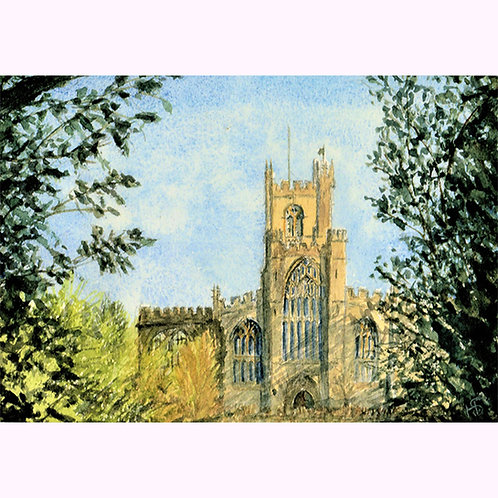 Hazel Smith, Print from original painting. St Bartholomew's Church