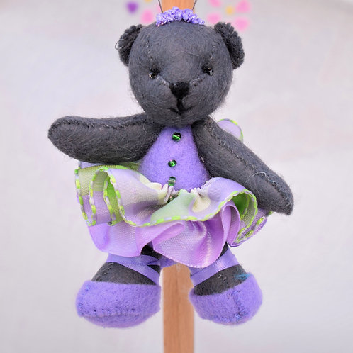 Small Ballerina Bear with moveable arms and legs