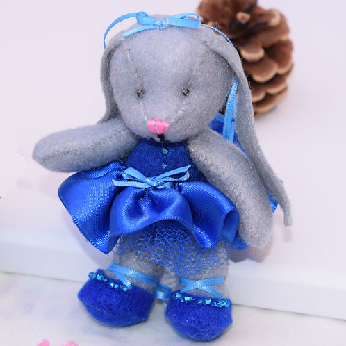Small Ballerina Bunny with moveable arms and legs