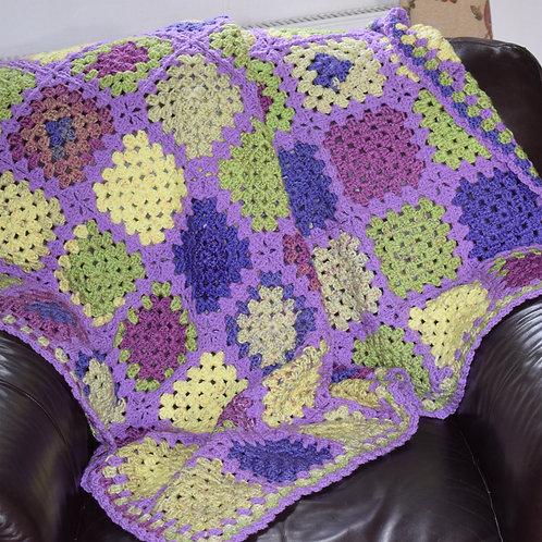 Beautiful Hand Made Crochet Throw: Granny Squares