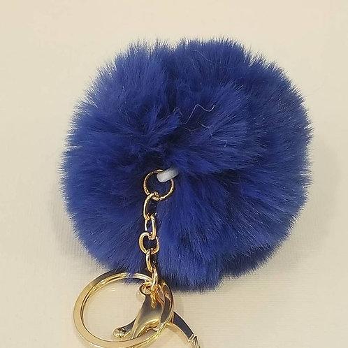 Blue Large Pom Pom Key Chains