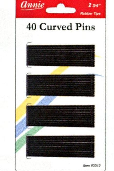 Annie Curved Pins 40pc