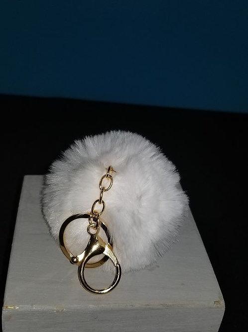 Small Pom Pom Key Chain