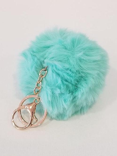 Turquoise Small Pom Pom Key Chains