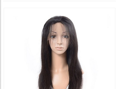 "24"" Brazilian Full Lace Straight Hair With Baby Hair Of 180% Density Wig"