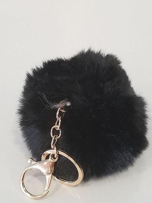 Black Small Pom Pom Key Chains