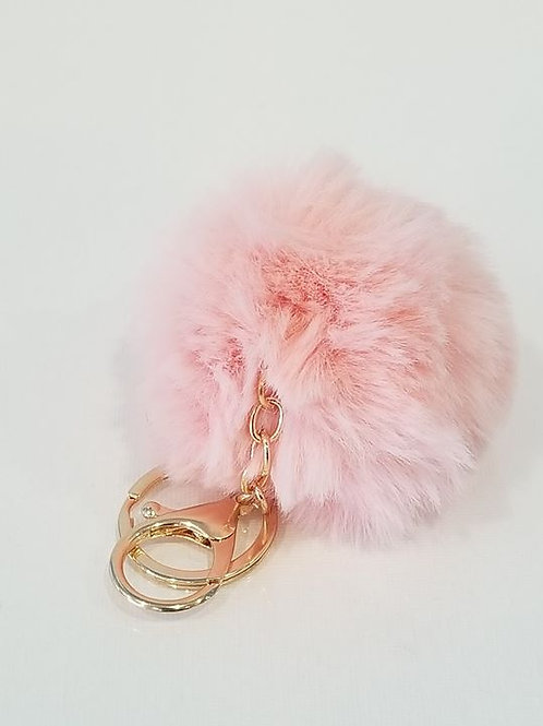 Pink Small Pom Pom Key Chains
