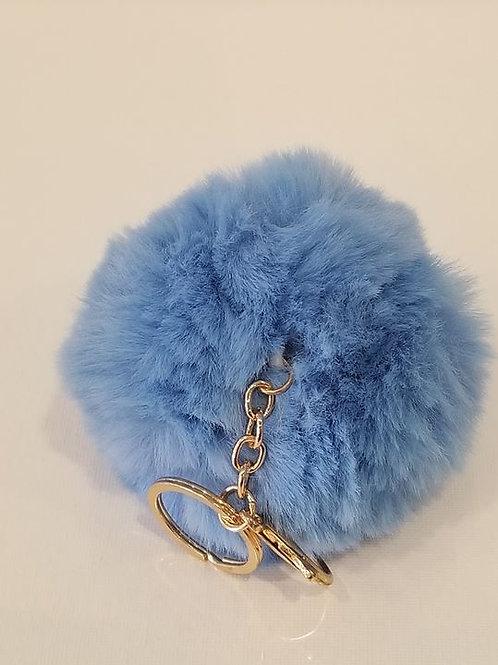Light Blue Small Pom Pom Key Chains