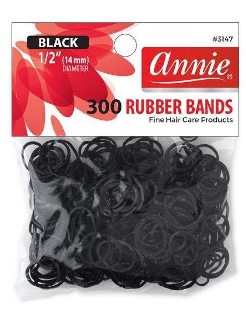 Annie Rubber Bands Black Medium
