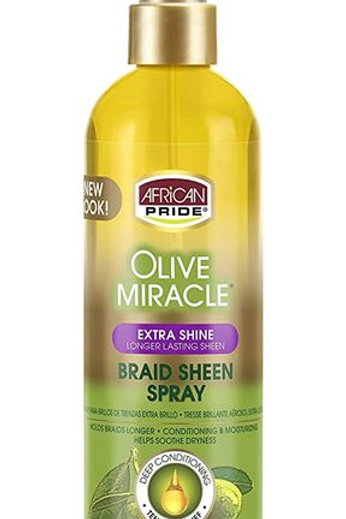 African Pride Olive Miracle Braid Sheen
