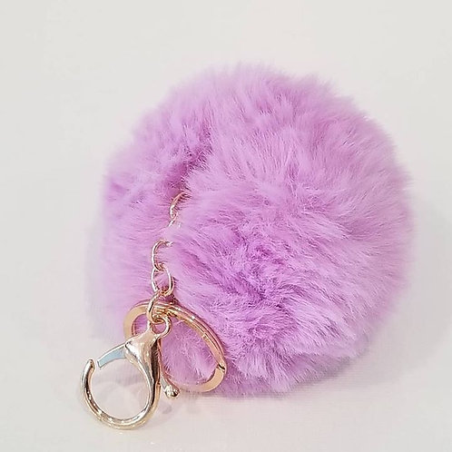 Purple Large Pom Pom Key Chains