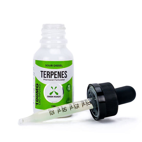 Green Roads 100 mg Sour Diesel Vape Tincture
