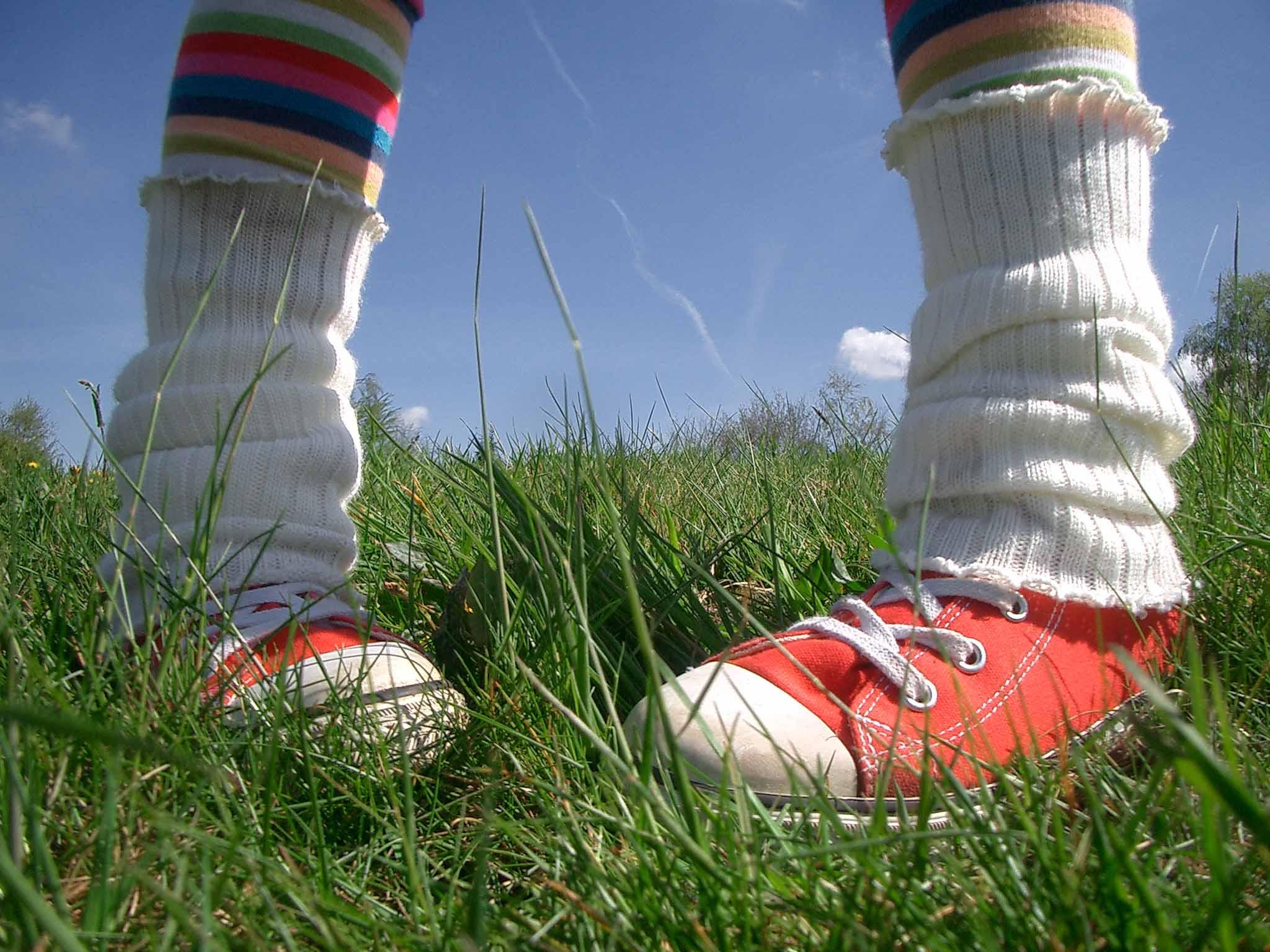 voeten stevig op de grond