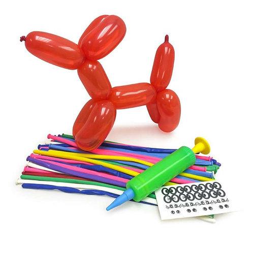 Modellierluftballon-Set mit Hund
