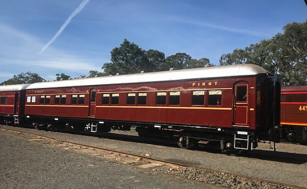 The exterior of the newly restored EBS 2076 carriage, originally built in 1935