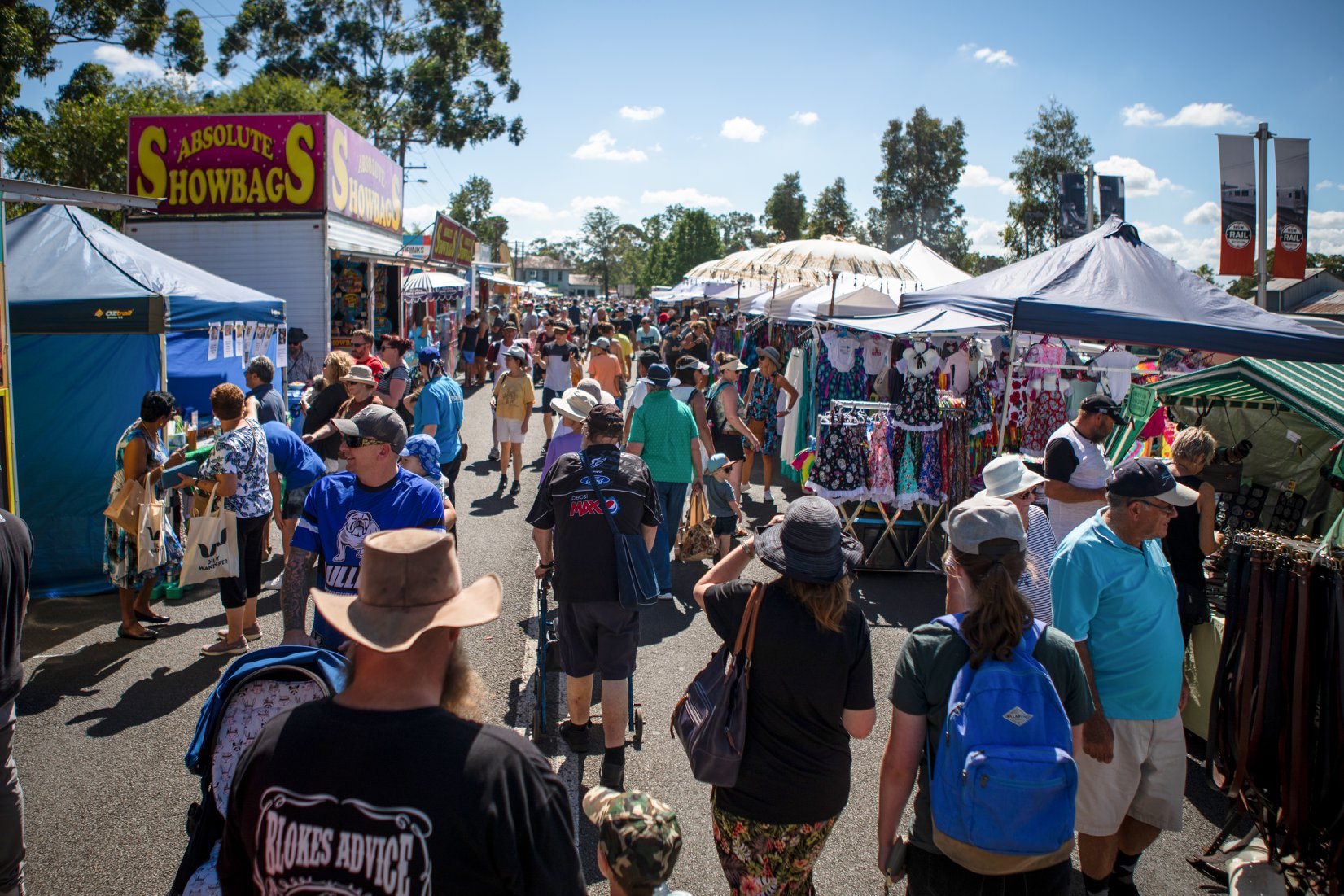 More than 180 market stalls throughout the streets of Thirlmere during the festival. -Trys Eddy Photos