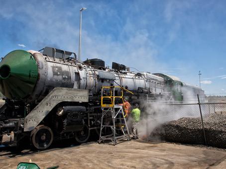 Locomotive 3801 steam test