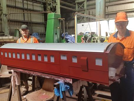 Mini-train restoration by Chullora volunteers