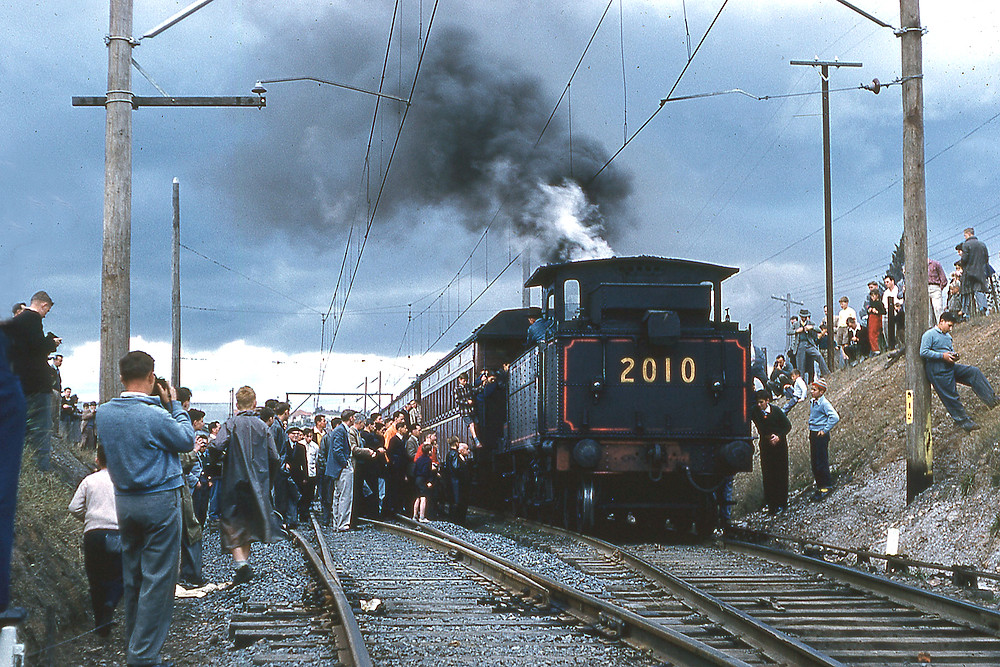 The final day of steam on the Carlingford Line on 8 August 1959. Photo by Dale Budd OBE.