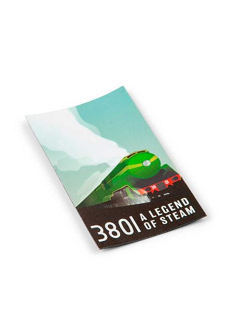 Locomotive 3801 Flat Magnet