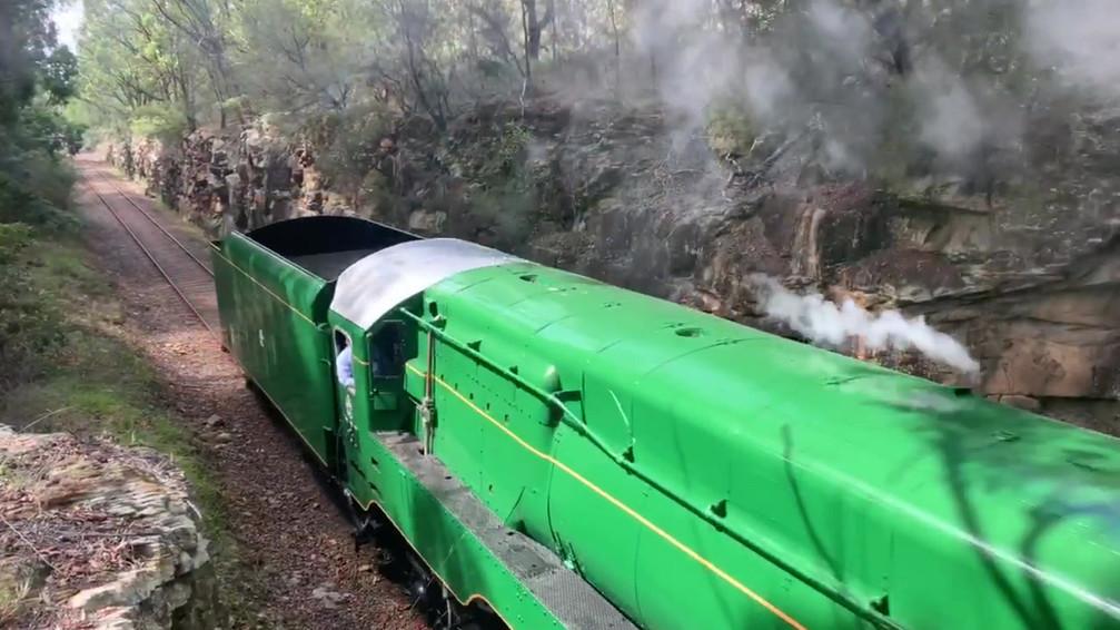 Locomotive 3801 steams again!