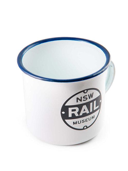 NSW Rail Museum Enamel Mug Large