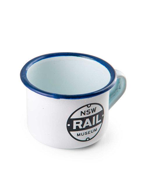 NSW Rail Museum Enamel Mug Small