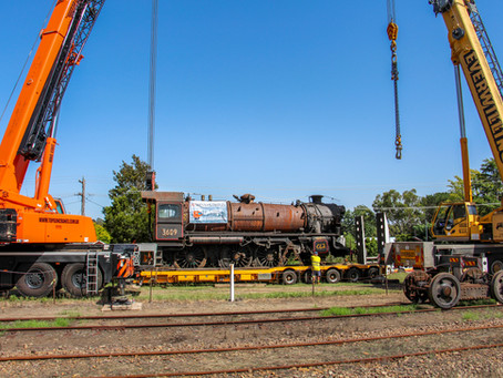 90-year-old steam engine heads to Junee