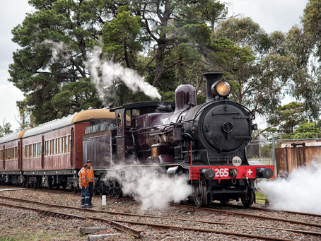 Locomotive 3265 returns to steam