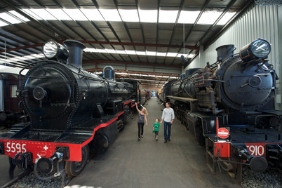 Great Train Hall at NSW Rail Museum