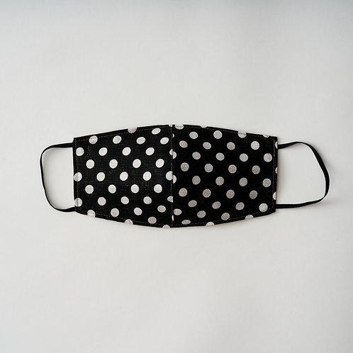 Black Polka Dot Face Mask