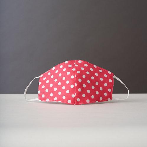 Pink Polka Dot Face Mask